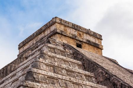 Close up Chichen Itza, Mayan Pyramid, Yucatan, Mexico. photo