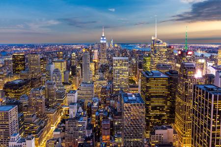 New York City midtown Skyline sunset