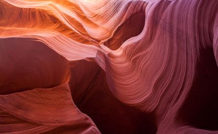 lower antelope: Sandstone pattern in lower Antelope canyon, Page, Arizona. Stock Photo