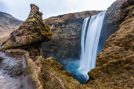 Iconic Skagafoss fall, Iceland. photo