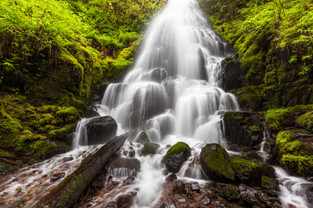 river: Fairy falls in Columbia River Gorge, Oregon.