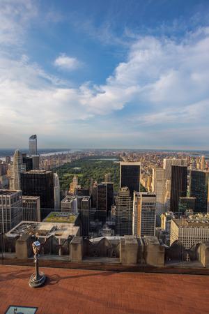 city park skyline: Central park and New york city skyline