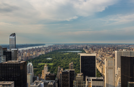 city park skyline: Aerial view of Central park in  New york city
