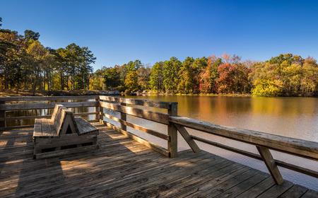 fall landscape: Arkansas fall landscape, Petit Jean state park.
