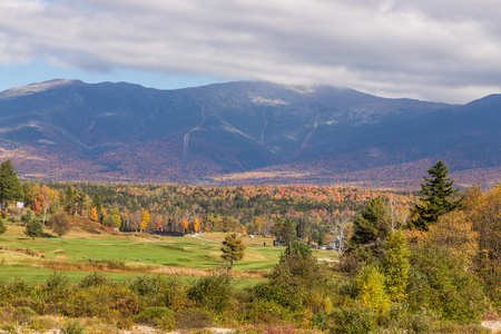 hampshire: beautiful fall landscape in , New  Hampshire, USA. Stock Photo
