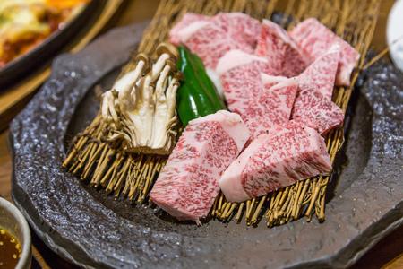 saga: Japanese saga raw beef for grill and steak.
