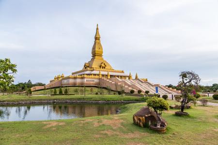 maha: famous Maha Mongkol Bua Pagoda in Roi-ed Thailand