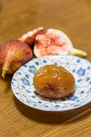 sweeten: Homemade sweeten preserved fig and fresh figs