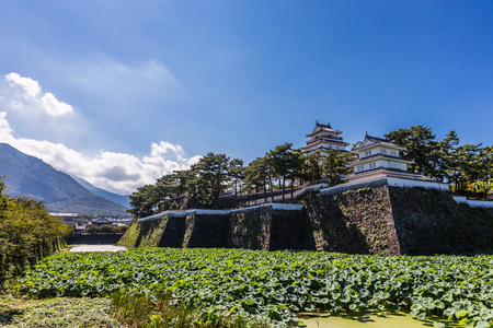 Shimabara castle , famous attraction in Nagasaki Prefecture, Kyushu