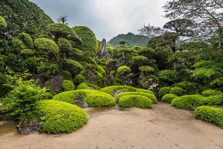 Beautiful Japanese garden in Chiran Samurai district in Kagoshima, Japan