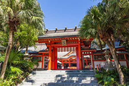 washboard: Aoshima jinja , a colorful shinto shrine located on Aoshima Island, Miyazaki prefecture, Japan on August 27, 2015. Editorial