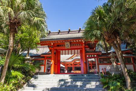 Aoshima jinja , a colorful shinto shrine located on Aoshima Island, Miyazaki prefecture, Japan on August 27, 2015. Editorial