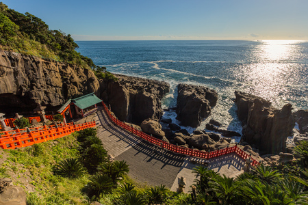 Udo jingu, a Shinto shrine located on Nichinan coastline, Kyushu, Japan