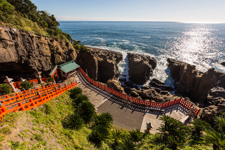 Udo jingu, a Shinto shrine located on Nichinan coastline, Kyushu, Japan. Stock Photo - 76368780