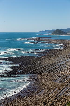 Nichinan coastline from Phoenix, viewpoint in Miyazaki, Kyushu, Japan. Stock Photo