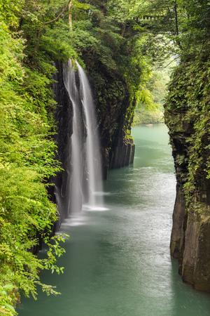 Beautiful landscape of takachiho gorge and waterfall in Miyazaki, Japan