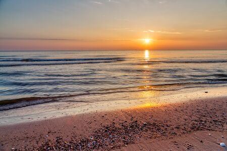 Beautiful sunrise in Hua Hin beach, Thailand. Stock fotó