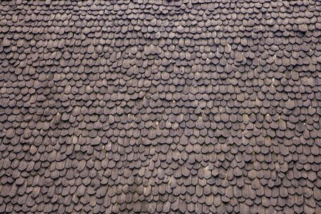 Roof tile pattern of ancient northern Thai style house
