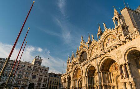 Exterior of famous Saint Mark's Basilica in Venice, Italy Stock Photo