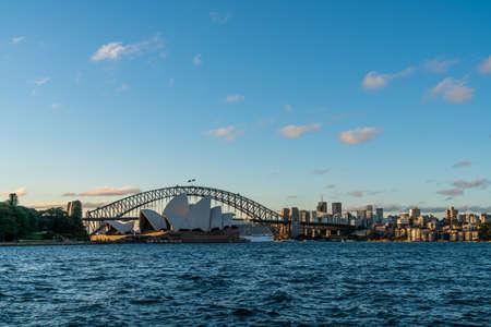 Sydney, Australia - Nov 14, 2017 : Sydney skyline at Sydney harbor bay in the afternoon, NSW, Australia.