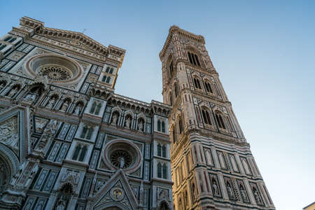 Beautiful Cathedral of Santa Maria del Fiore and bell tower in Florence, Tuscany, Italy.