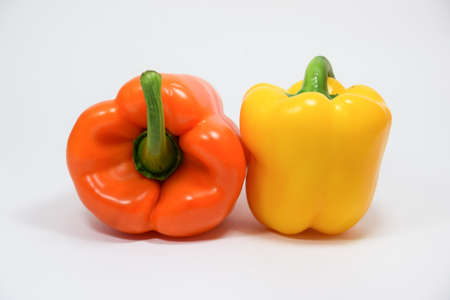 shinning: Orange and yellow bell pepper background