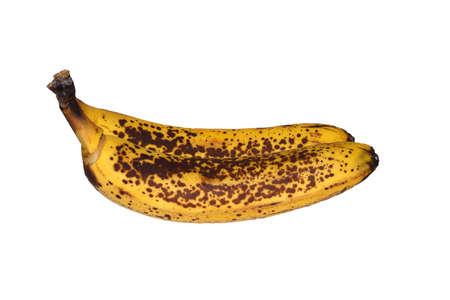 fighting cancer: Banana black spot peel isolated on white background with clipping path