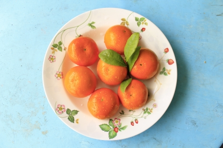 Orange on the plate
