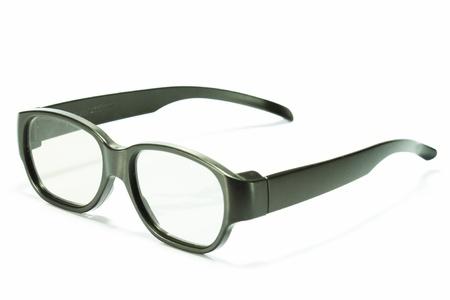 Nerd glasses on isolated white background Stock Photo