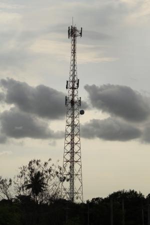 Telecommunication tower Stock Photo
