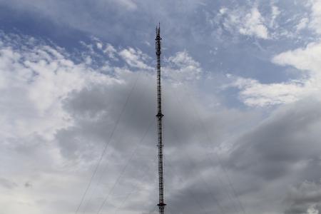 GSM antennas Stock Photo
