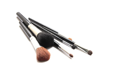 Various makeup brushes  photo