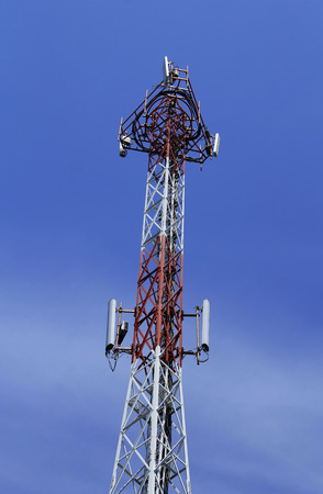 antennas of cellular communication Stock Photo