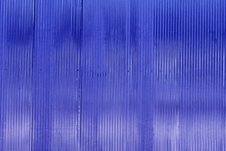 Blue color corrugated metal sheet as background