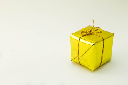 Gift box on white background.