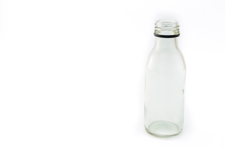 pharmacy bottle made of clear glass Stock Photo