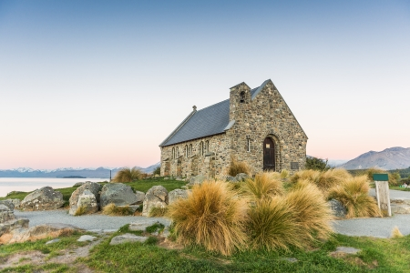 Lovely church at Lake Tekapo, New Zealand photo