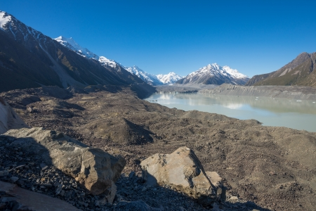 Tasman Glacier, Mt  Cook national park photo
