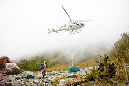 avalanche: Emergency helicopter in Milford Track helped hiker when avalanche