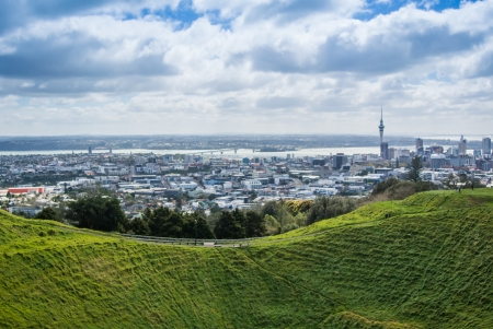 Auckland City view from Mt. Eden