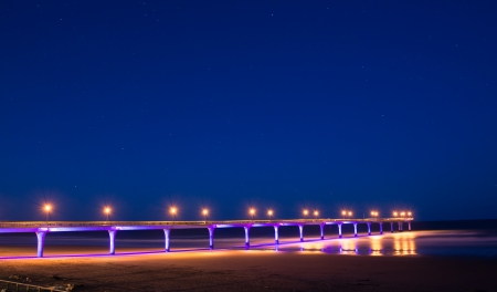 New Brighton pier in the night photo
