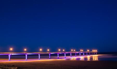 New Brighton pier in the night