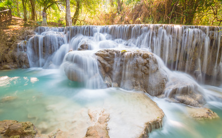 Kuang Si Waterfall, Luang prabang, Laos photo