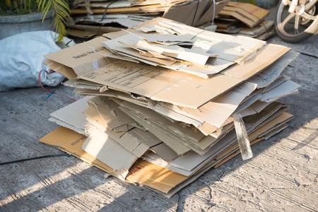 Folded Cardboard Used Boxes photo