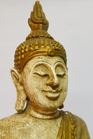 Buddha statue in wood photo