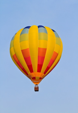 Colorful hot air balloon in the sky photo