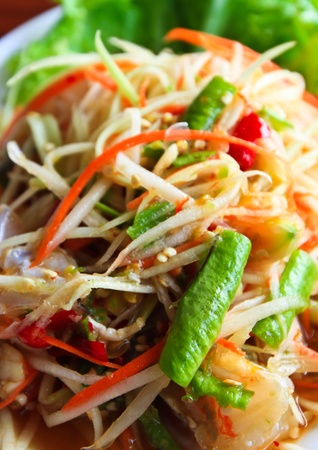 Papaya salad, North east cuisine. Thailand
