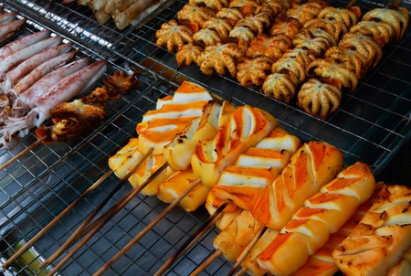 Grilled squids photo