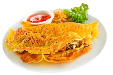 Stuffed crispy egg crepe,Vietnam cuisine photo