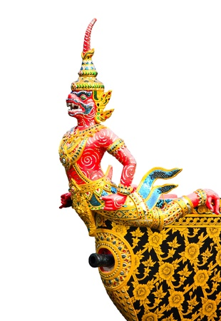 Hanuman is the animal in Thai literature Stock Photo